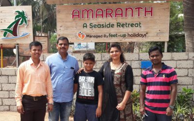 Our First Guest at Amaranth Resort, Murud, Kokan